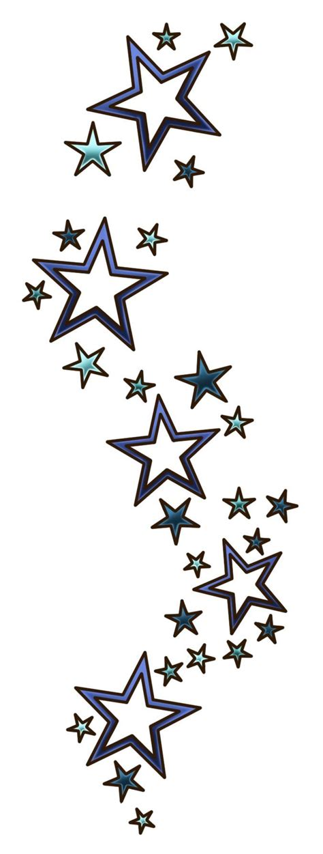 star tattoos designs stars  double borders