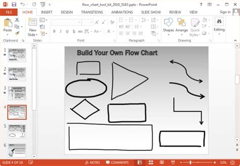 powerpoint workflow template animated flowchart maker templates for powerpoint and keynote
