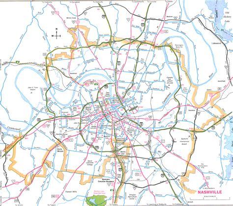 map of nashville nashville map free printable maps