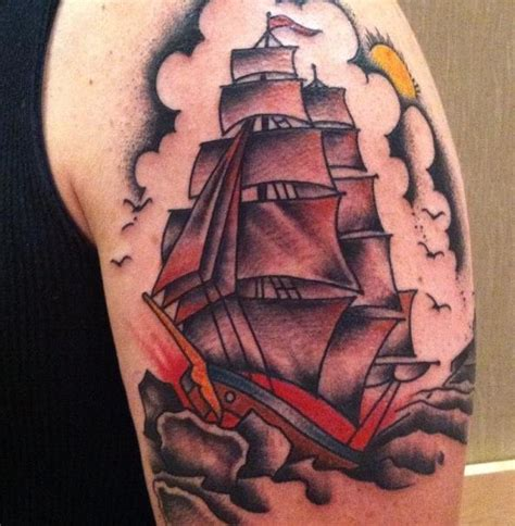 sailboat tattoo 30 mind blowing boat tattoos