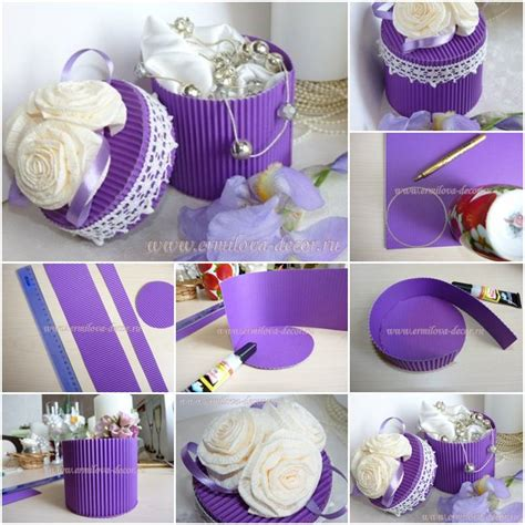 how to make corrugated paper gift box step by step diy