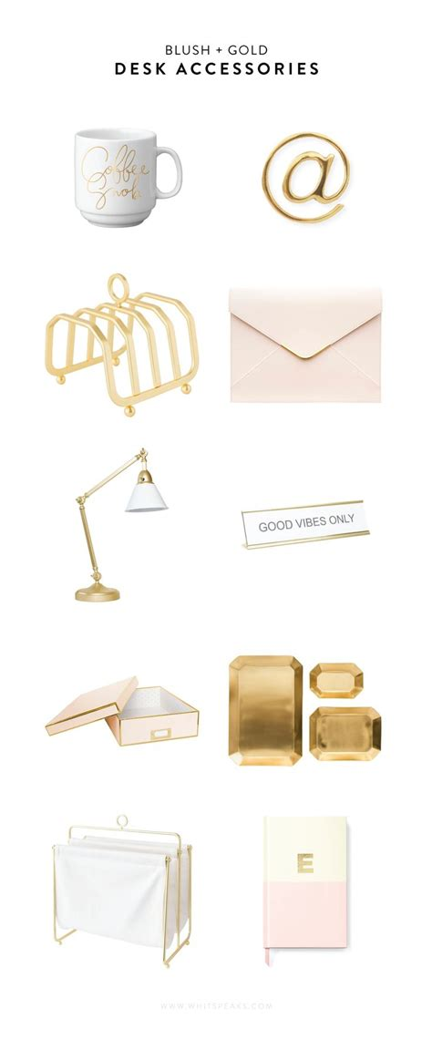 Gold Desk Accessories 25 Best Ideas About Gold Desk Accessories On Chic Cubicle Decor Gold Office And