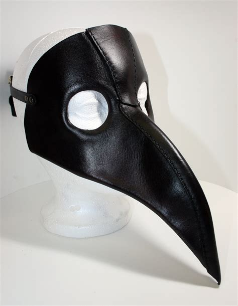 How To Make A Plague Doctor Mask With Paper Mache - plague doctor mask in leather sewn original