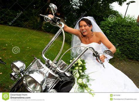 braut motor braut auf harley davidson fahrrad stockbild bild von