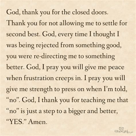 thank you letter to god god thank you for the closed doors thank you for not