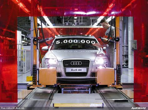 audi production line five millionth audi a6 leaves production line audiworld