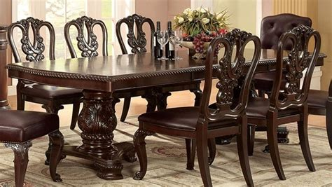 medieve dining room set cherry formal dining sets bellagio brown cherry finish formal 7 piece dining room