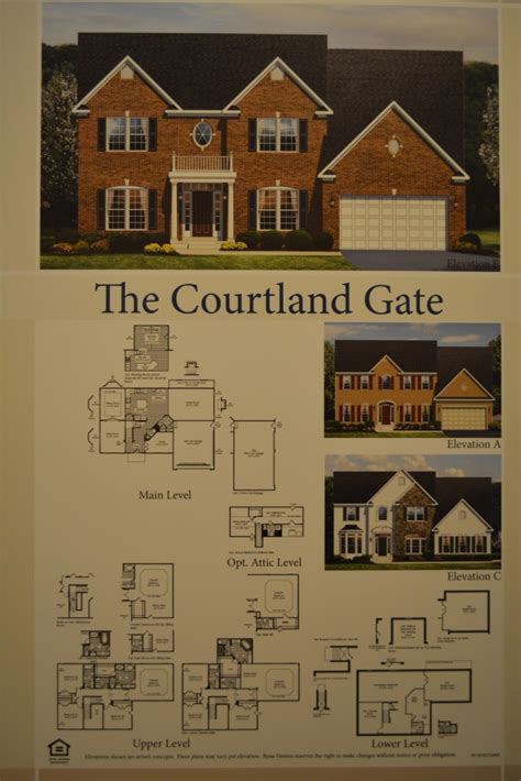 ryan homes jefferson square floor plan the courtland gate single family home floor plan and