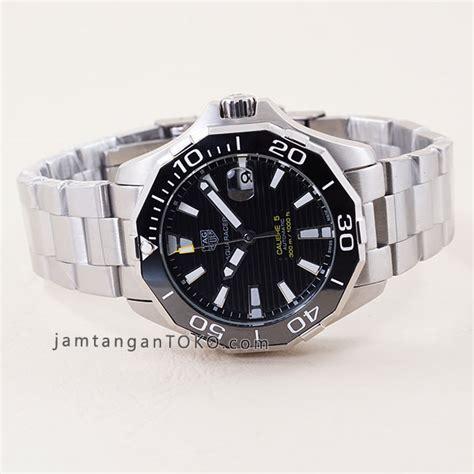 Jam Tangan Tag Heuer Calibre 5 jam tangan tagheuer aquaracer cal 5 automatic silver black