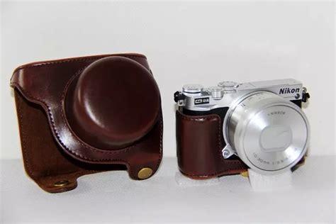 Leather For Nikon 1 J5 Hitam compra nikon funda de cuero al por mayor de china mayoristas de nikon funda de cuero