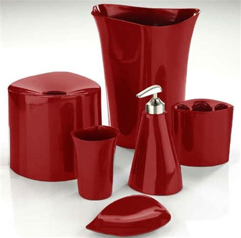 red glass bathroom accessories how to make red bathroom accessories make subtle yet bold