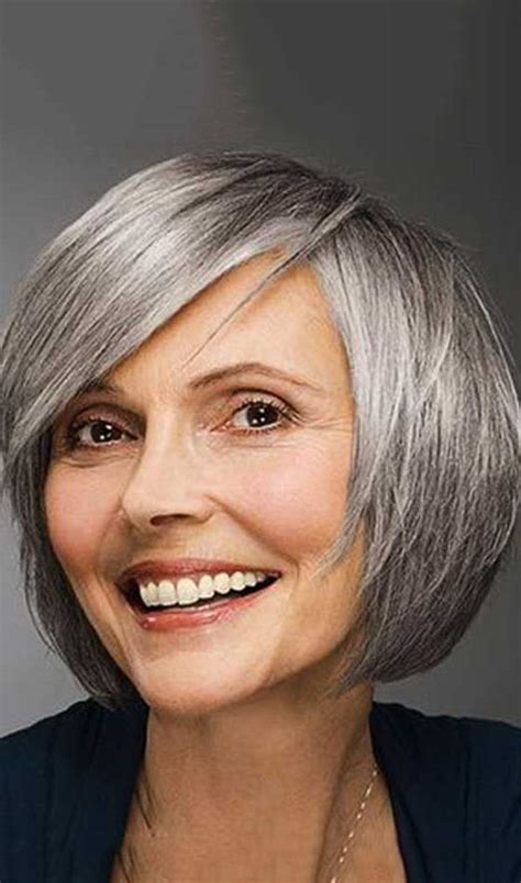 bangs after age 50 16 best gray hair styles images on pinterest hairstyle