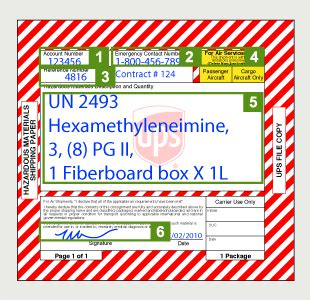 shipping papers 49 cfr ups united states
