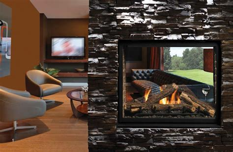 Montebello See Through Fireplace by Astria Montebello See Through Fireplace Fireplaces