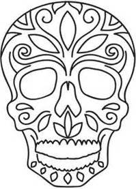 day of the dead skull template day of the dead skull templates