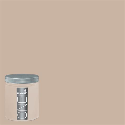 shop olympic 8 oz timeless taupe interior satin paint sle at lowes