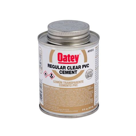 Plumbing Glue by Oatey 8 Oz Pvc Cement 310133 The Home Depot