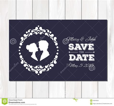savings card template vector save the date wedding invitation with stock vector