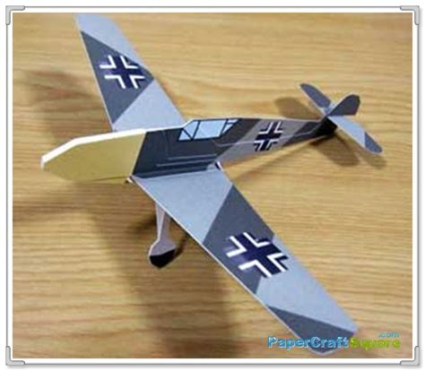 Paper Craft Aeroplane - messerschmitt bf109 paper airplane