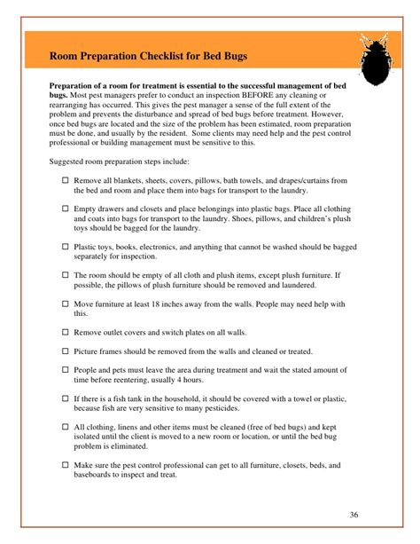 bed bug checklist bed bug guidelines for shelters and group living facilities