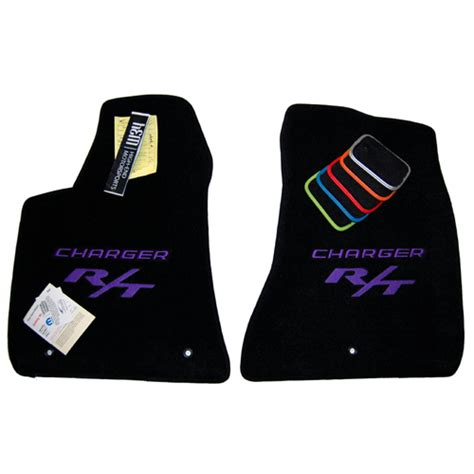 Dodge Charger Floor Mats Logo by Dodge Charger R T Plum Pearl Floor Mats
