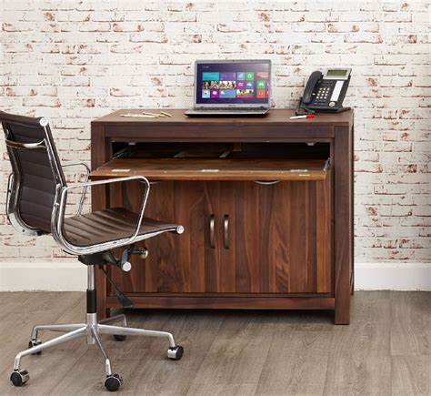 walnut computer desk buy baumhaus mayan walnut computer desk cfs uk