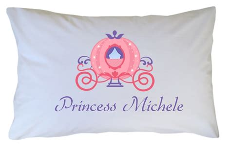 Princess Pillow Cases by Personalized Princess Carriage Pillow For
