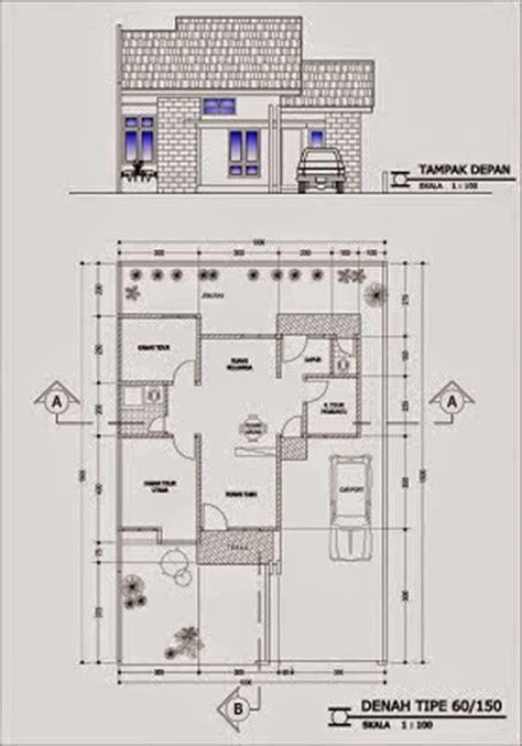 gambar  denah rumah minimalis type  desainrumahnyacom