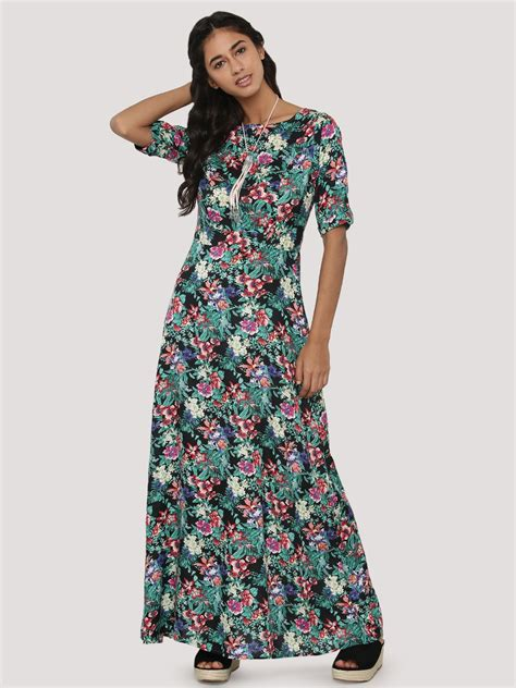 buy koovs fit flare maxi dress for s multi