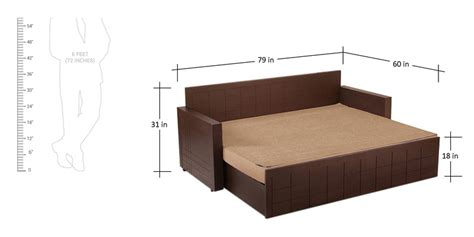 pepperfry sofa cum bed buy madelyn sofa cum bed in brown colour by auspicious