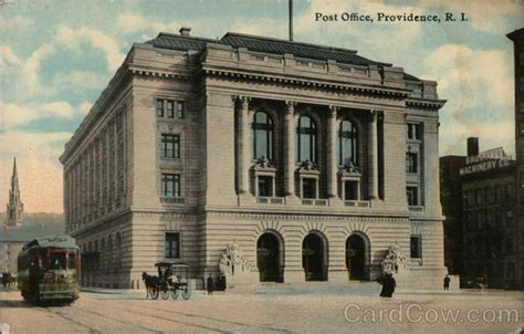 East Providence Post Office by Post Office Providence Ri Postcard