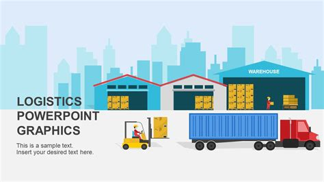 template ppt logistics free warehouse logistics powerpoint shapes slidemodel