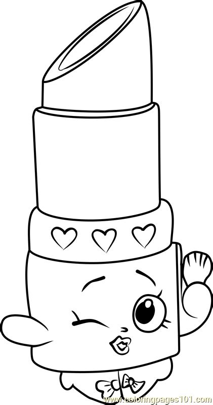 shopkins coloring pages lippy lips lippy lips shopkins coloring page free shopkins coloring