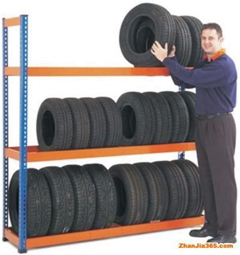 garage shelves and warehouse rack for truck and auto tires