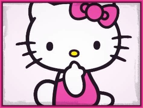 imagenes hello kitty trabajando tiernos y bonitos dibujos de hello kitty en color