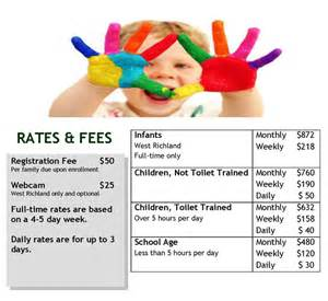 in home daycare rates rates fees kid sworld childcare llc
