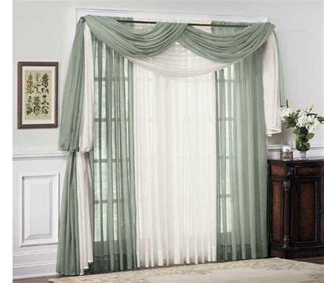sheer curtain scarf ideas scarf valance idea vacation home ideas pinterest