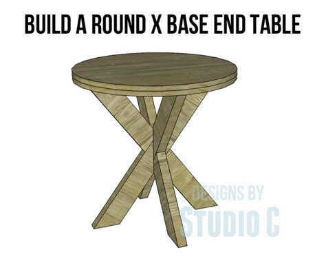how to build a table base for a granite top build a x base end table
