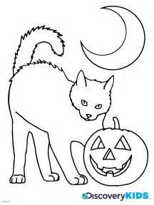 Printable coloring pages gt halloween cat gt 75323