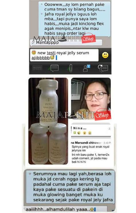 Serum Jafra testimoni serum jafra serum royal jelly concentrate asli