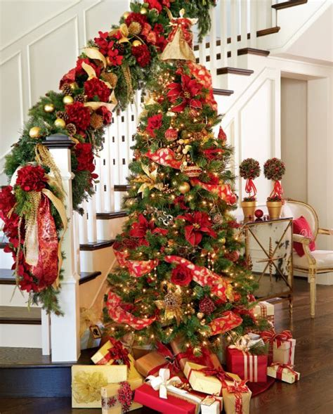 gold and red christmas decorating ideas for amazing