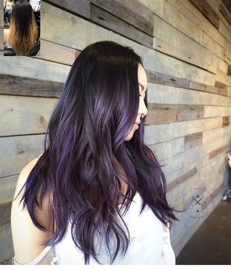 lilac higlights dark hair with lavender highlights future hair