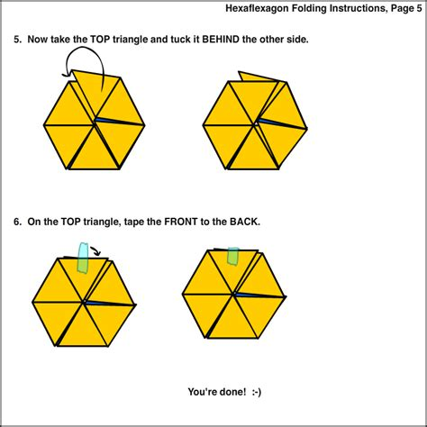 How To Make A Hexaflexagon Out Of Paper - how to make a paper hexaflexagon 28 images