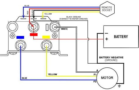 warn winch wiring without solenoid wiring diagram