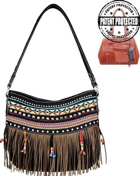 tribal pattern purse mw499g 8273bk western tribal pattern hobo with concealed
