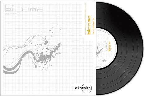 design vinyl cover abstract and effective music album cover design
