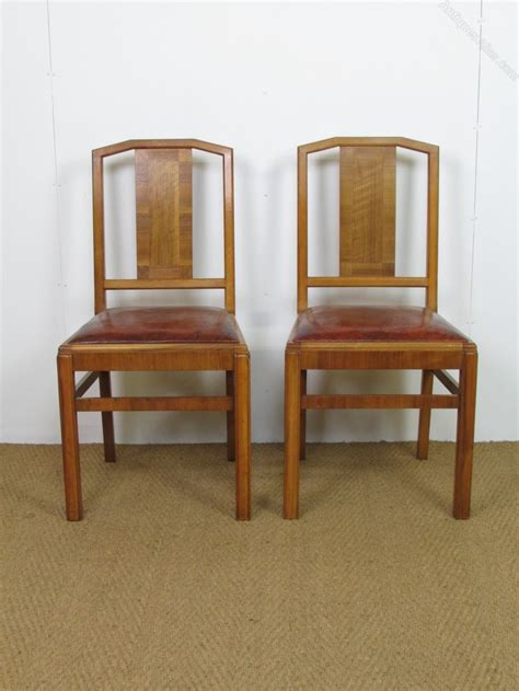 set of 8 heal s deco walnut dining chairs antiques atlas