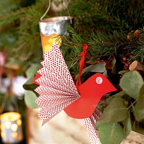 how to make paper christmas decorations at home make paper bird decorations handmade christmas