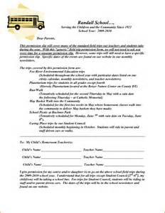 Field Trip Permission Letter by 3 Permission Slip Template Authorizationletters Org