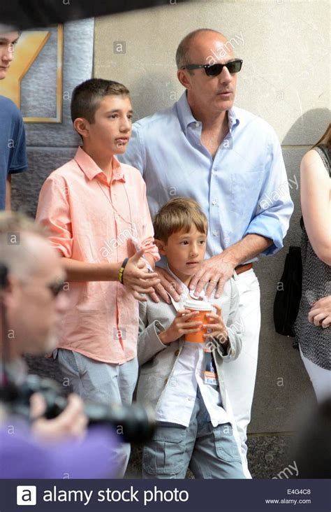 matt lauers son jack matthew lauer new york ny usa 10th july 2014 matt lauer sons jack